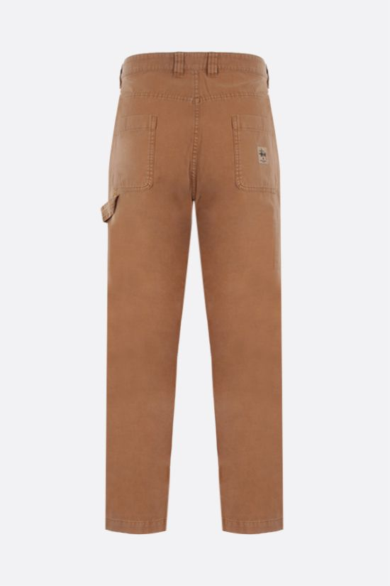 STUSSY: straight-fit cotton pants Color Gold_2