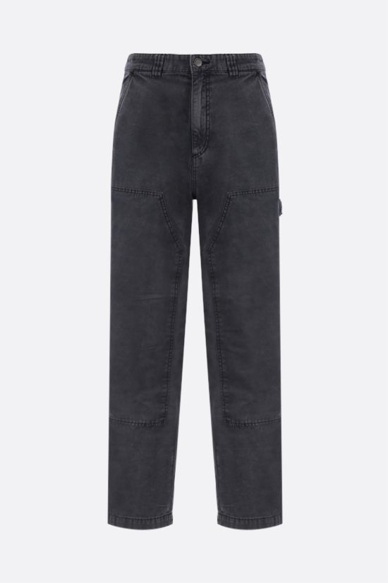 STUSSY: straight-fit cotton pants Color Grey_1