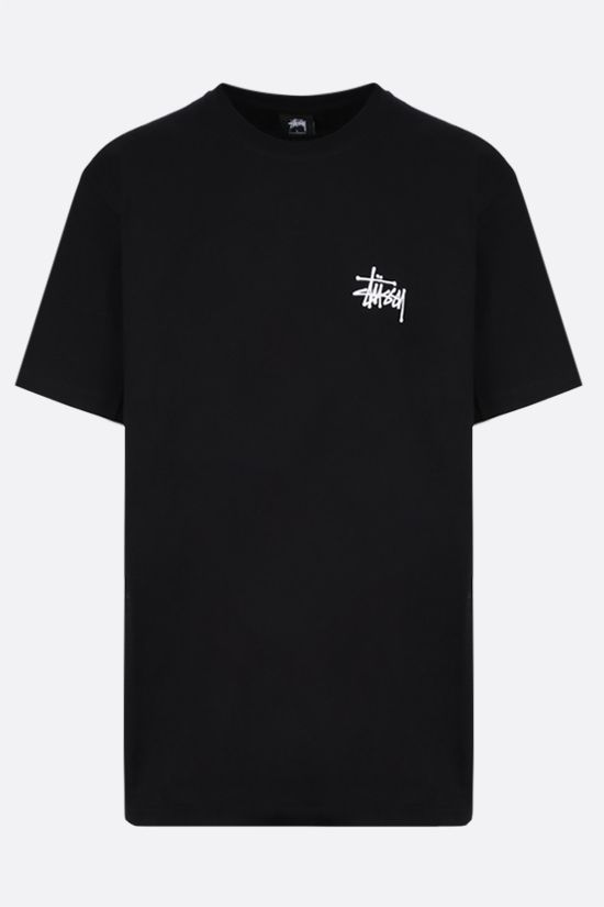 STUSSY: t-shirt Basic Stussy in cotone Colore Nero_1