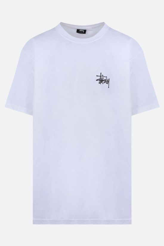 STUSSY: t-shirt Basic Stussy in cotone Colore Bianco_1