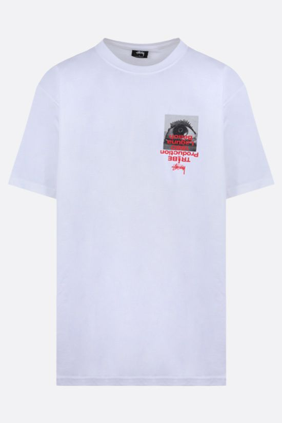 STUSSY: Tribe cotton t-shirt Color White_1