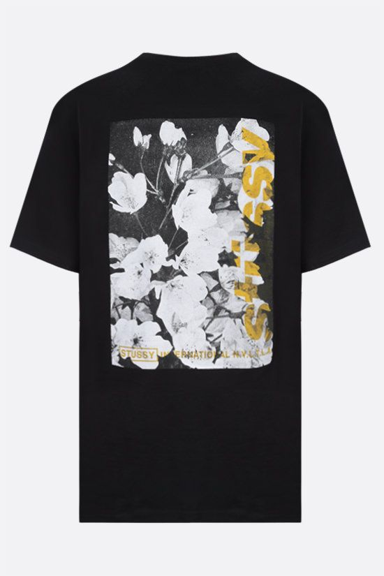 STUSSY: Windflower cotton t-shirt Color Black_2