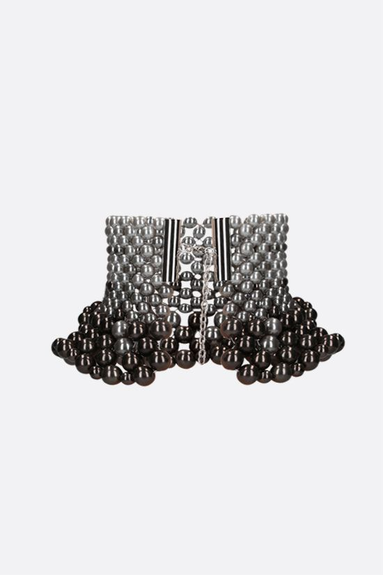 SUNNEI: bead-embellished necklace Color Grey_2