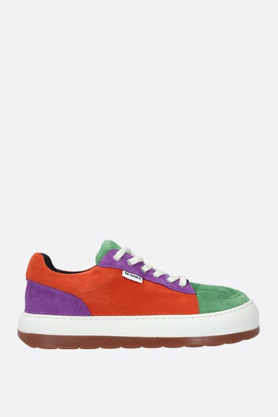 SUNNEI: Dreamy velvet suede sneakers Color Multicolor_1