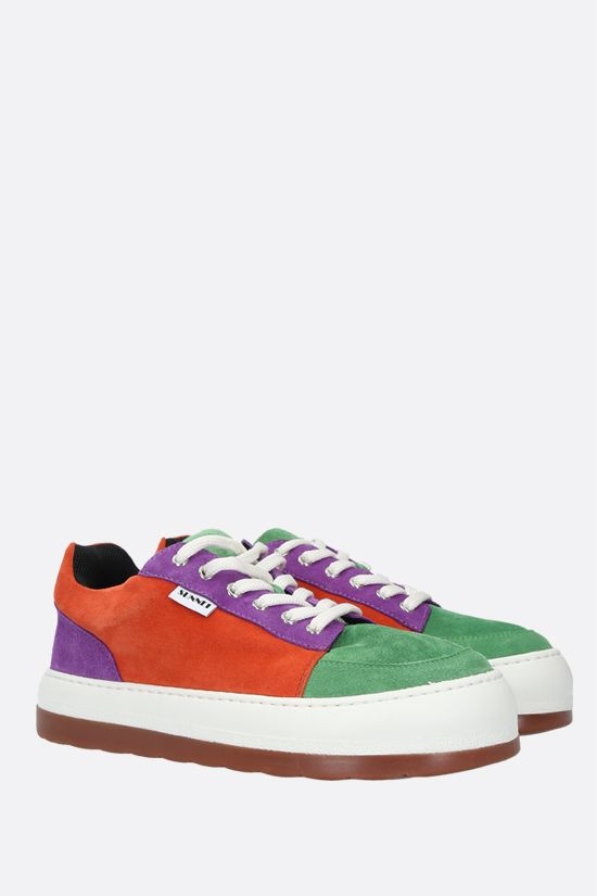 SUNNEI: Dreamy velvet suede sneakers Color Multicolor_2