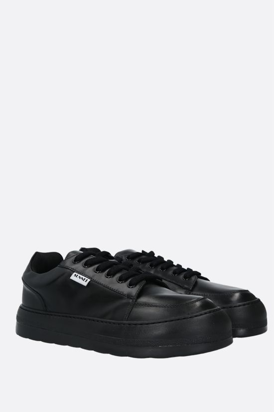 SUNNEI: Dreamy smooth leather sneakers Color Black_2