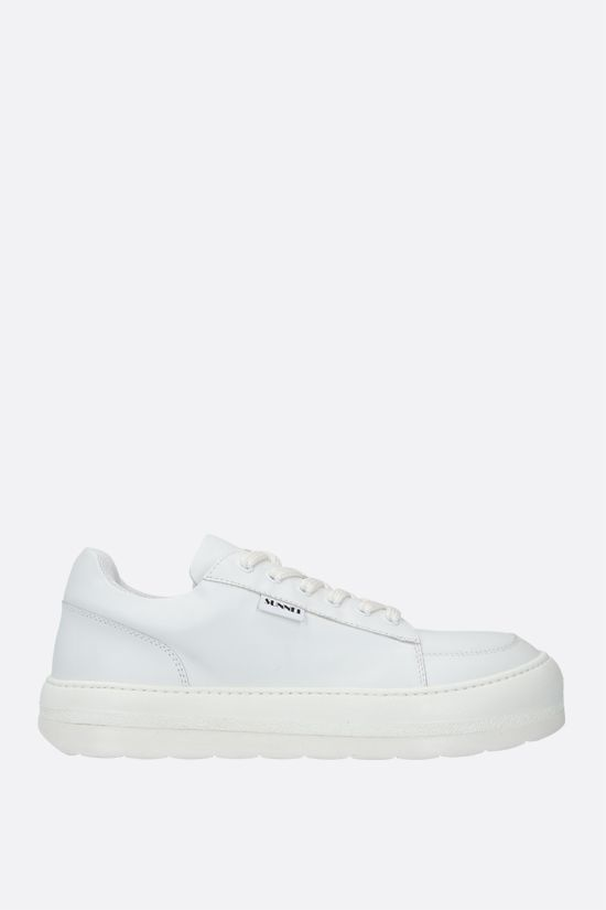 SUNNEI: Dreamy smooth leather sneakers Color White_1