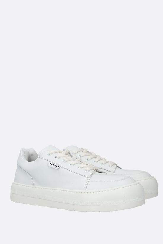 SUNNEI: Dreamy smooth leather sneakers Color White_2