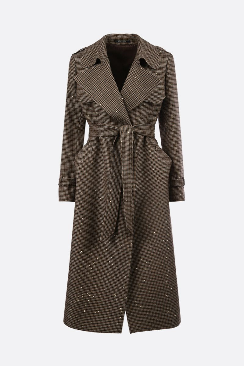TAGLIATORE: Carola wool blend wrap coat Color Brown_1