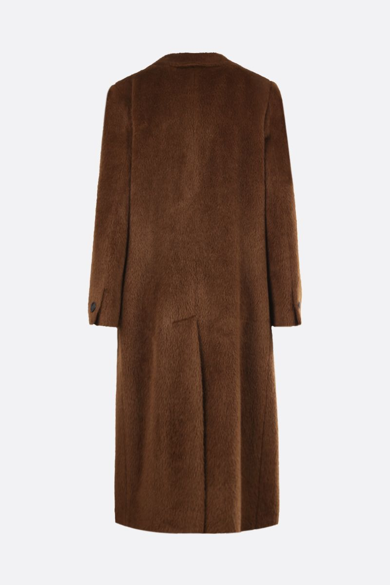 TAGLIATORE: Jole alpaca wool blend double-breasted coat Color Brown_2