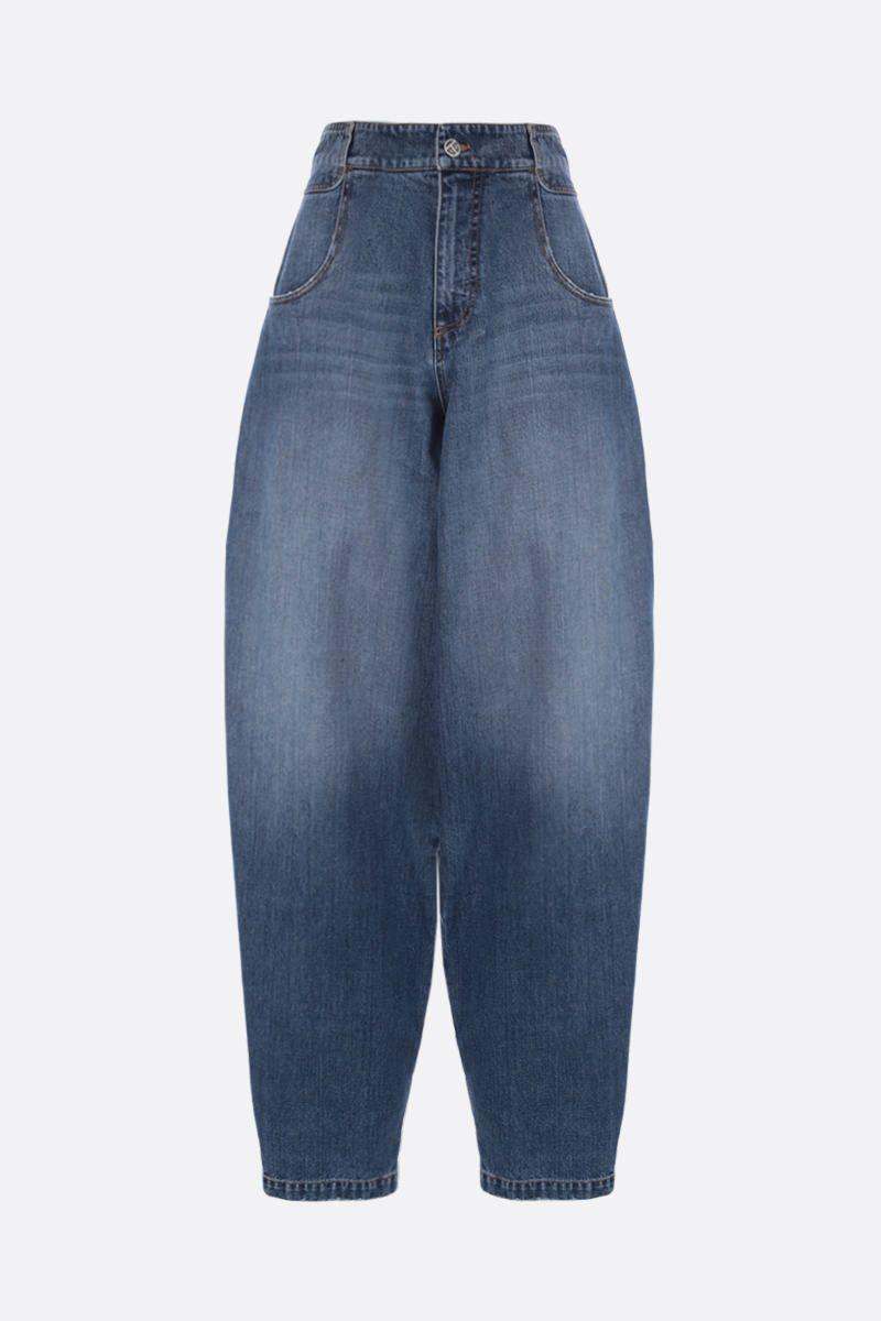 TELFAR: baggy-fit jeans Color Blue_1