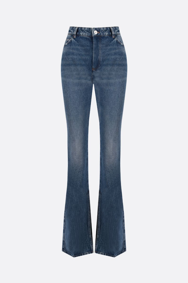 THE ATTICO: Vitto flare jeans Color Blue_1