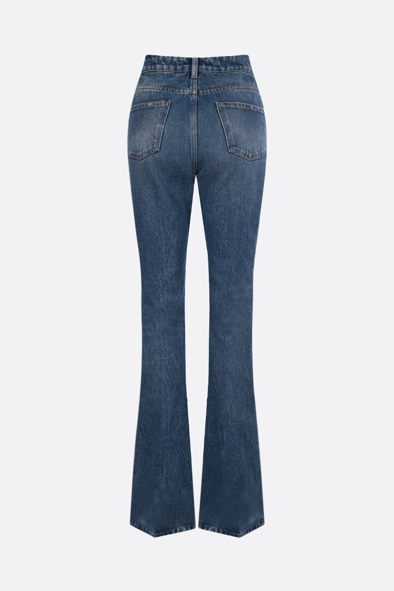THE ATTICO: Vitto flare jeans Color Blue_2