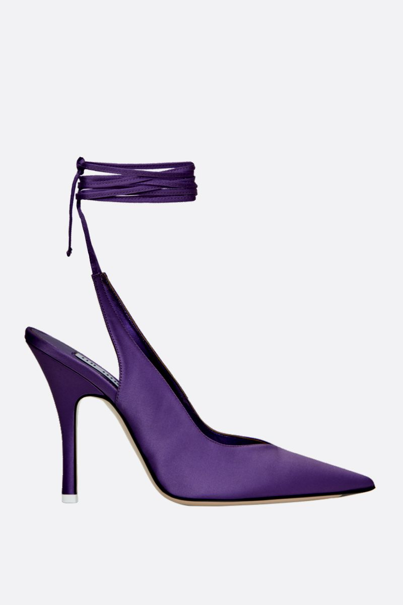 THE ATTICO: slingback Venus in raso Colore Viola_1