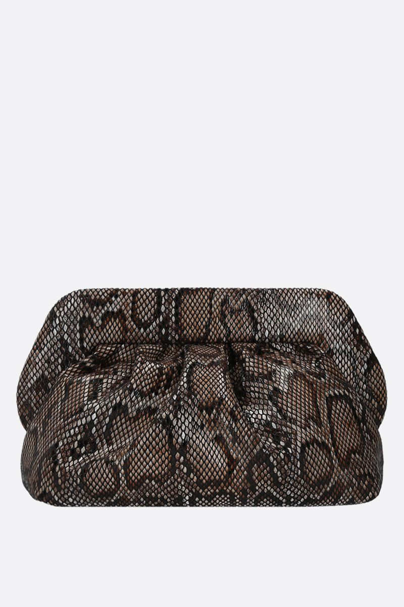 THE MOIRE': python-embossed faux leather clutch Color Black_1