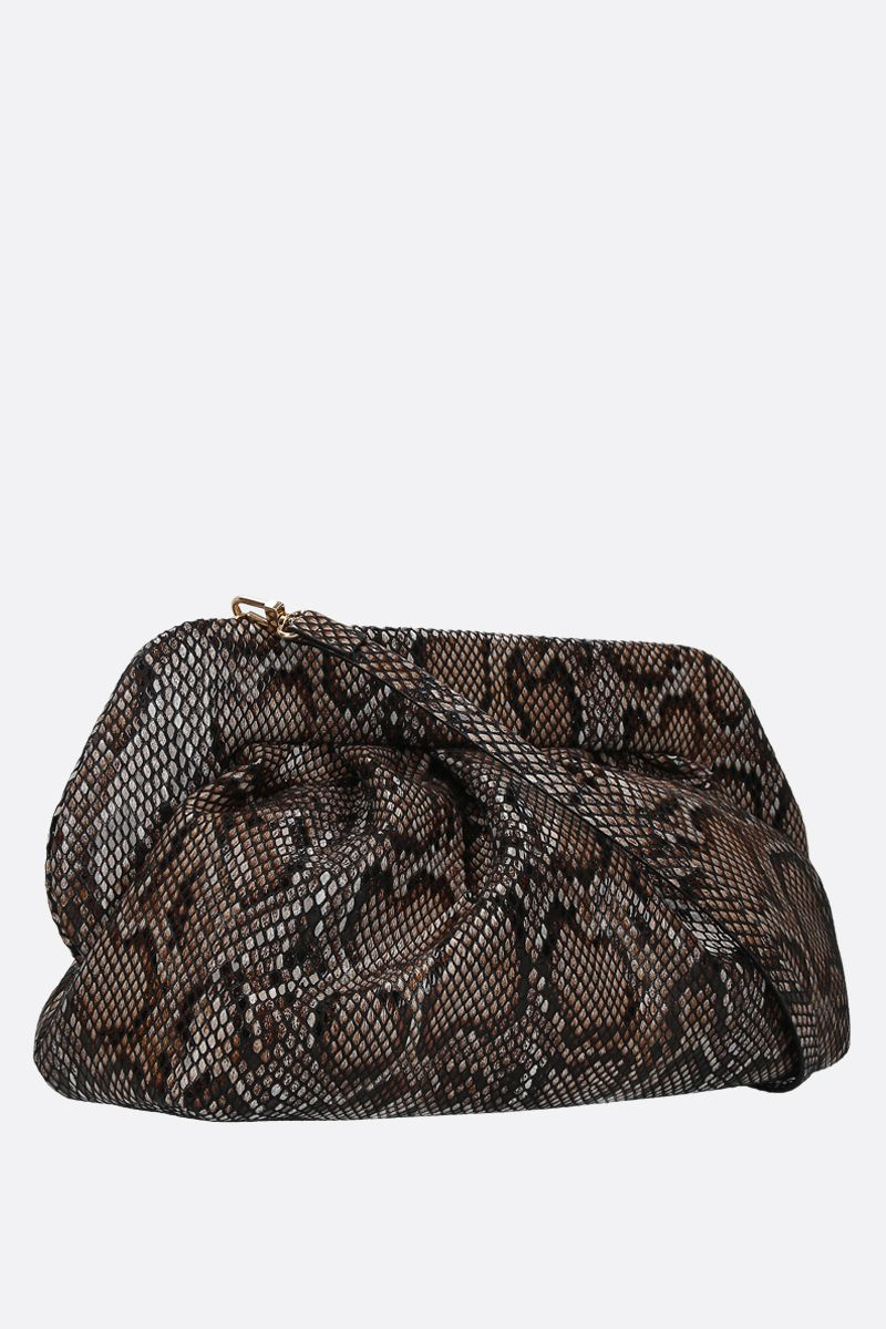 THE MOIRE': python-embossed faux leather clutch Color Black_2