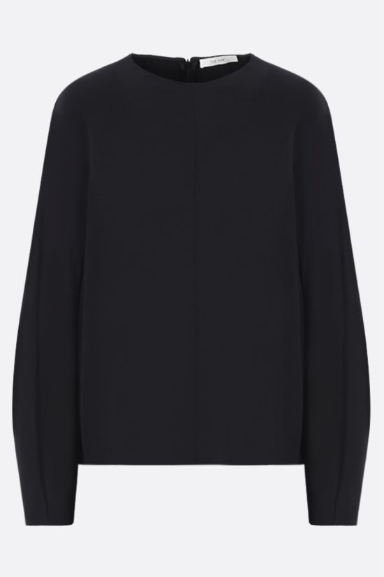 THE ROW: Linda stretch cady blouse Color Black_1