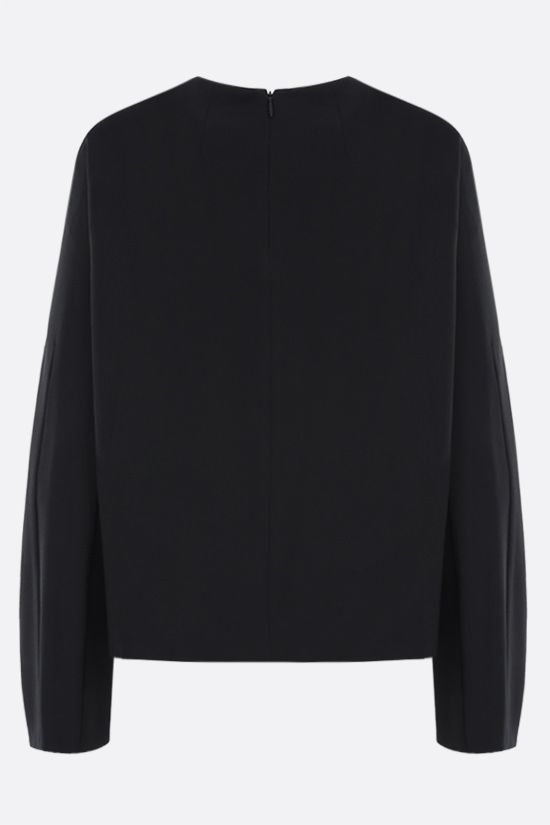 THE ROW: Linda stretch cady blouse Color Black_2