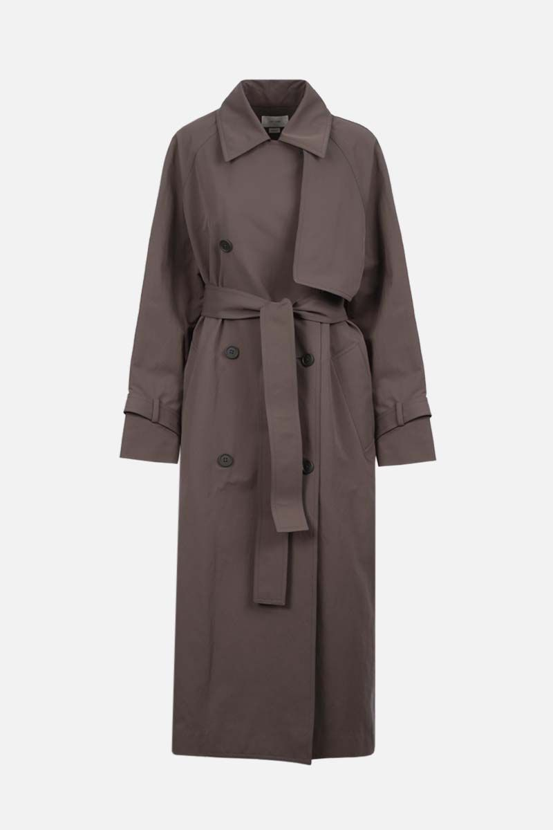 THE ROW: trench doppiopetto Kereem in nylon Colore Verde_1