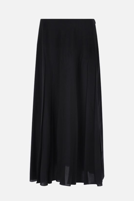 THE ROW: Travi twill pleated skirt Color Black_1