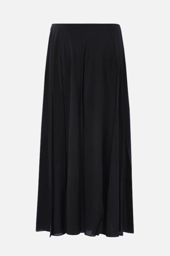 THE ROW: Travi twill pleated skirt Color Black_2