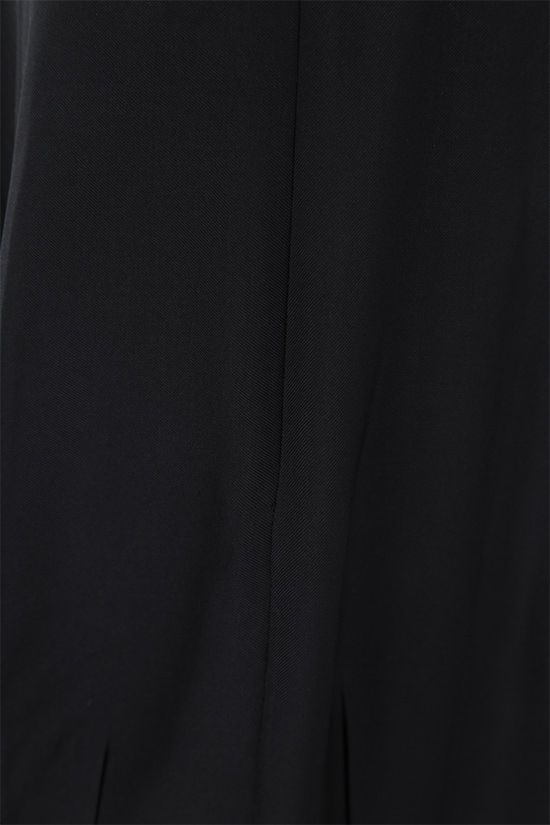 THE ROW: Travi twill pleated skirt Color Black_4