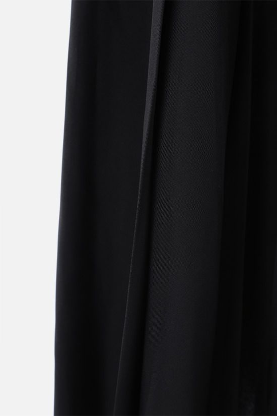 THE ROW: Travi twill pleated skirt Color Black_5