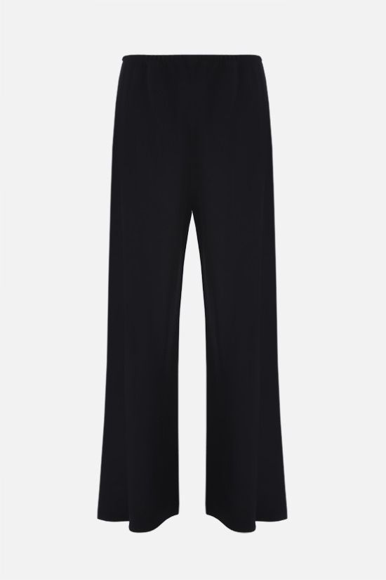 THE ROW: Gala stretch cady wide-leg pants Color Black_1
