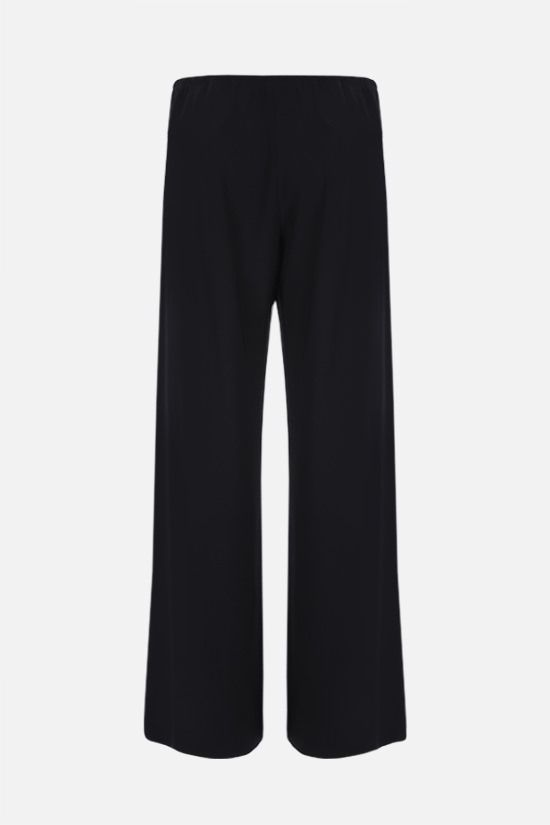 THE ROW: Gala stretch cady wide-leg pants Color Black_2