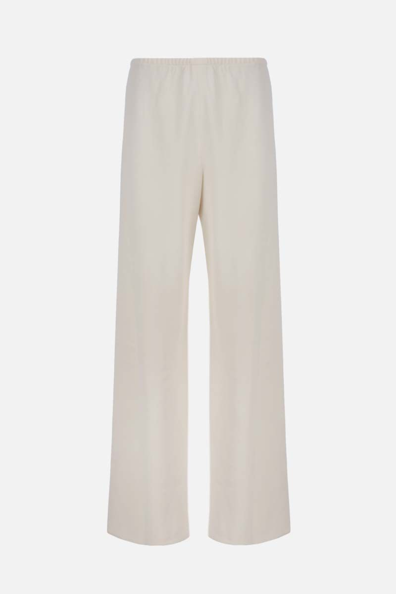 THE ROW: Gala stretch cady wide-leg pants Color White_1