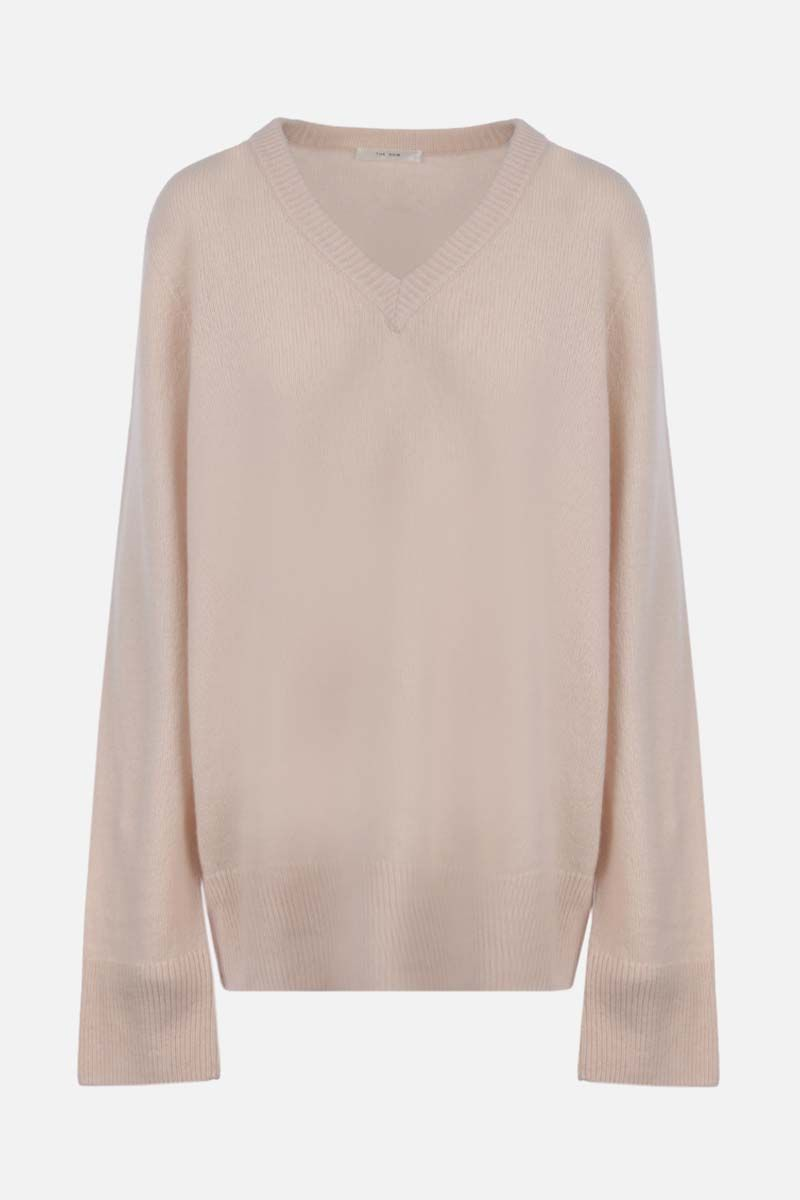 THE ROW: Elaine wool cashmere blend pullover Color Neutral_1