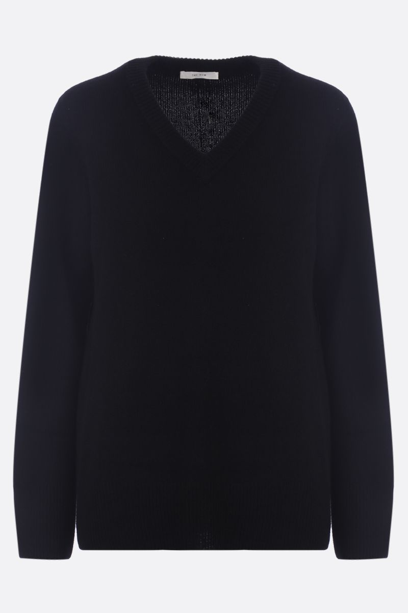 THE ROW: Elaine wool cashmere blend pullover Color Black_1