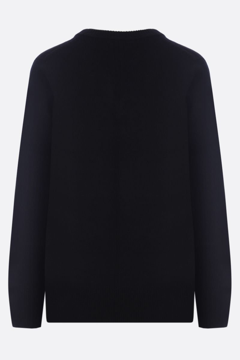THE ROW: Elaine wool cashmere blend pullover Color Black_2