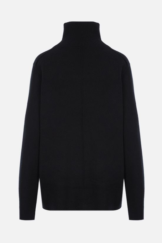 THE ROW: Milina oversize wool cashmere blend pullover Color Black_2