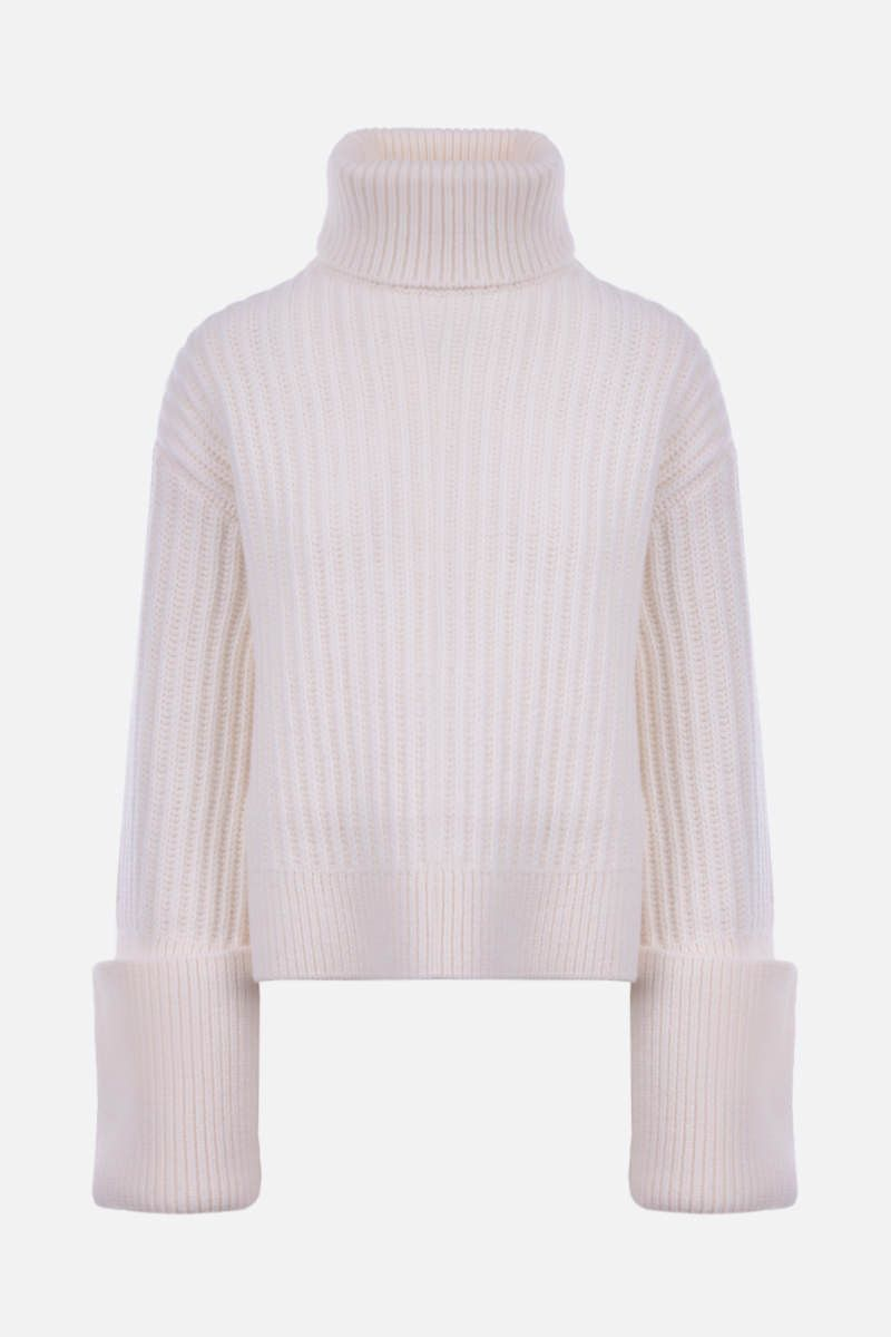 THE ROW: Aneke ribbed wool turtleneck Color White_1