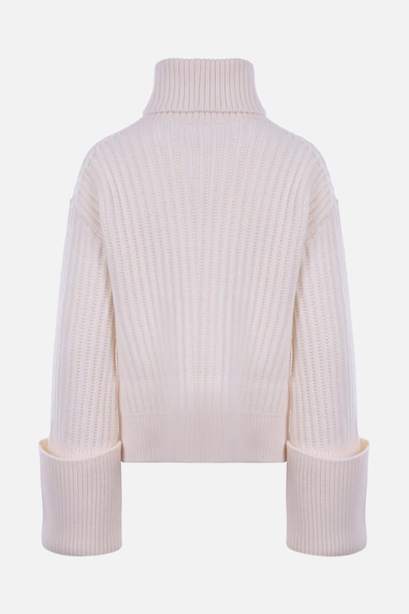 THE ROW: Aneke ribbed wool turtleneck Color White_2