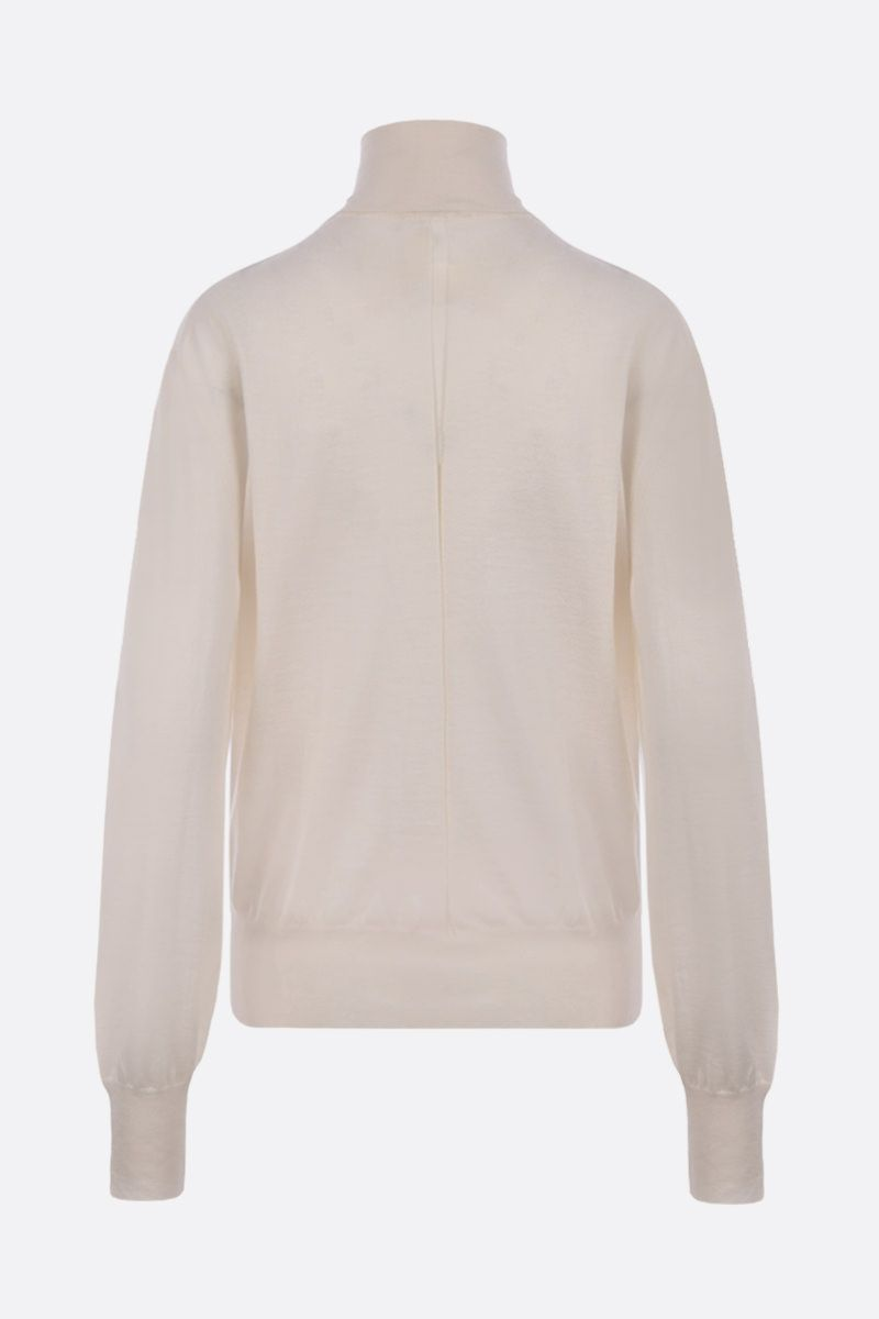 THE ROW: Andrett cashmere turtleneck Color White_2