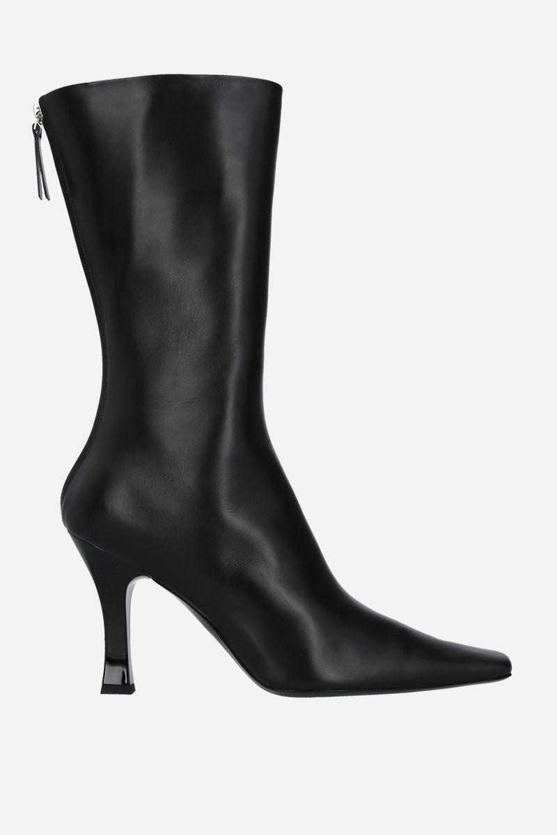 THE ROW: Office smooth leather boots Color Black_1