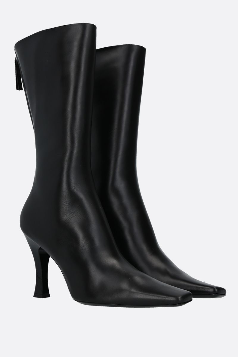 THE ROW: Office smooth leather boots Color Black_2