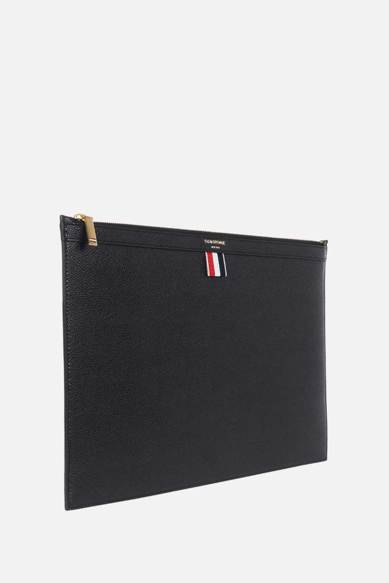 THOM BROWNE: Pebble Grain document holder Color Black_2