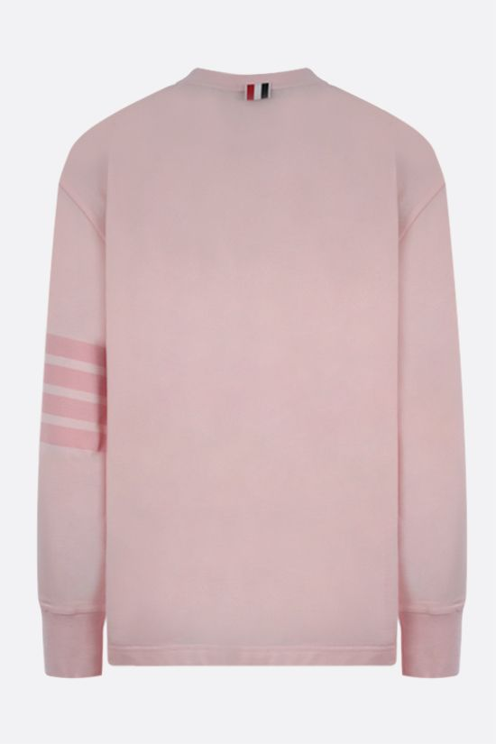 THOM BROWNE: 4-bar-detailed cotton long-sleeved t-shirt Color Pink_2