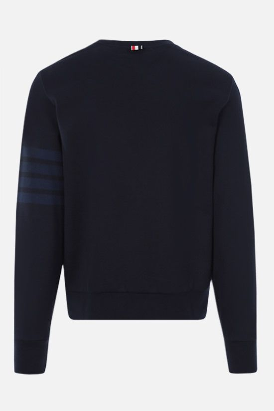 THOM BROWNE: 4-bar-detailed cotton sweatshirt Color Blue_2