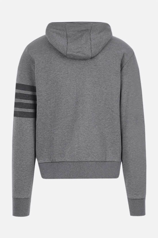 THOM BROWNE: 4-bar detailed cotton hoodie Color Grey_2