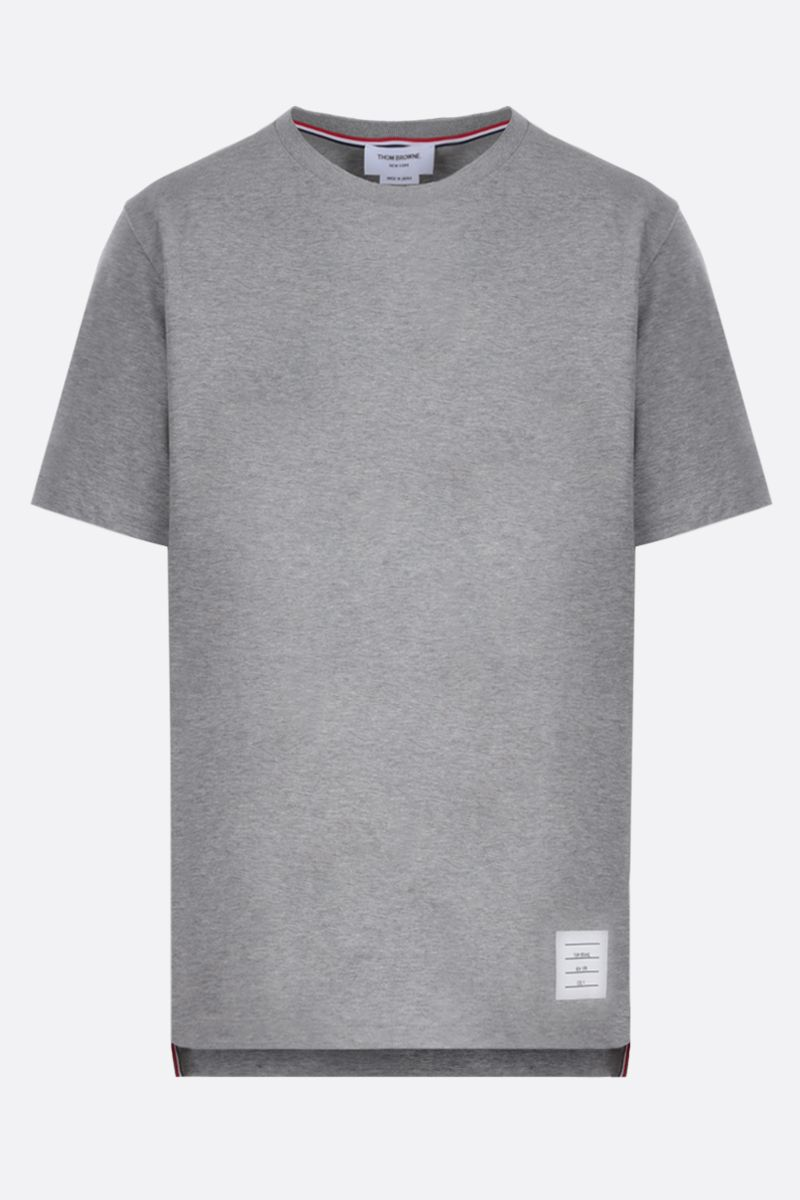 THOM BROWNE: slit-detailed cotton t-shirt Color Grey_1