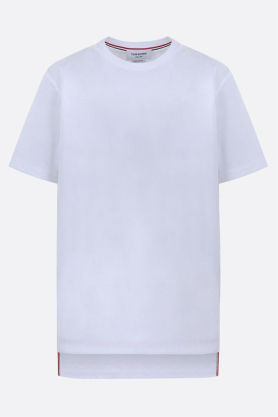 THOM BROWNE: slit-detailed cotton t-shirt Color White_1