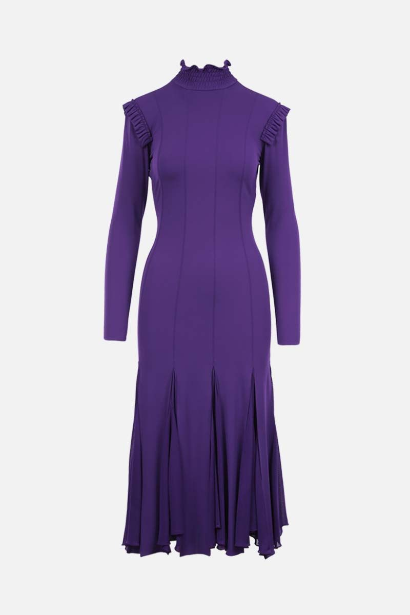 TOM FORD: viscose jersey midi dress Color Purple_1