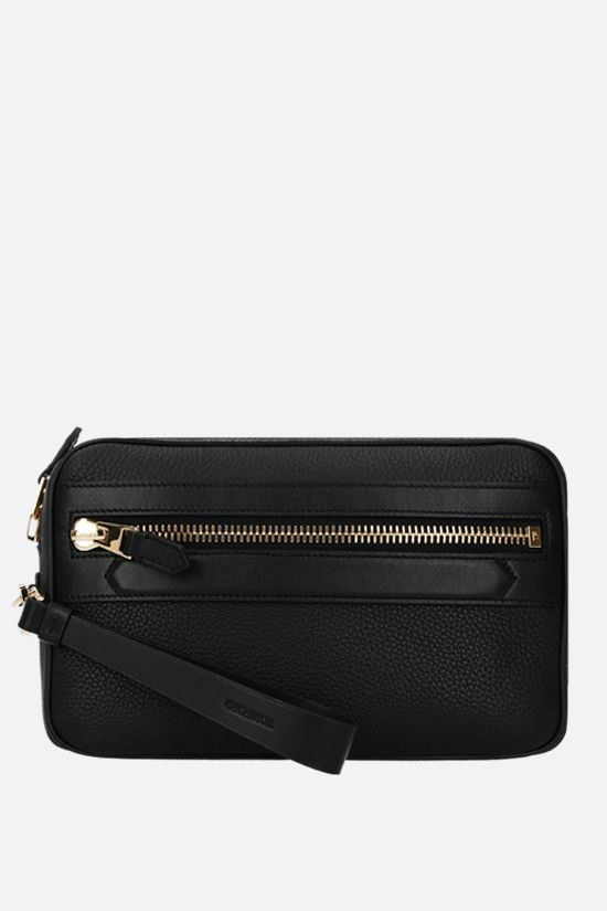 TOM FORD: grainy leather beauty case Color Black_1