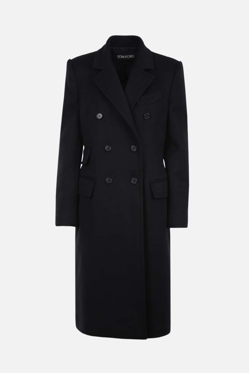 TOM FORD: cashmere double-breasted coat Color Black_1