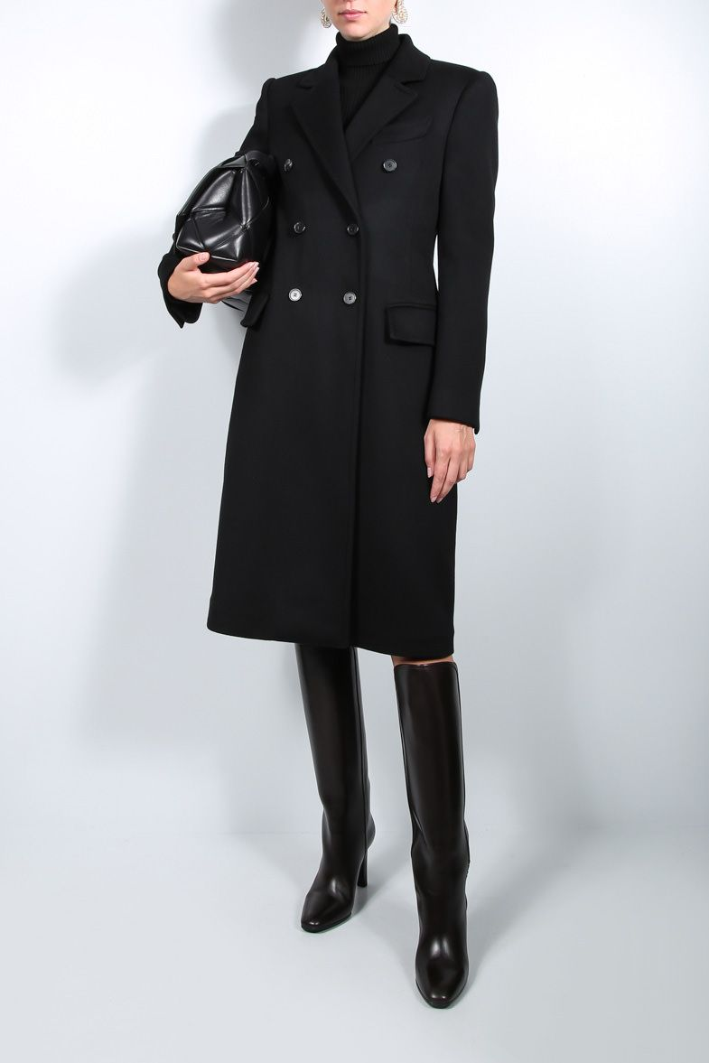 TOM FORD: cashmere double-breasted coat Color Black_3