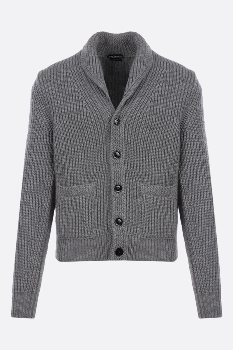 TOM FORD: cashmere mohair blend cardigan Color Grey_1